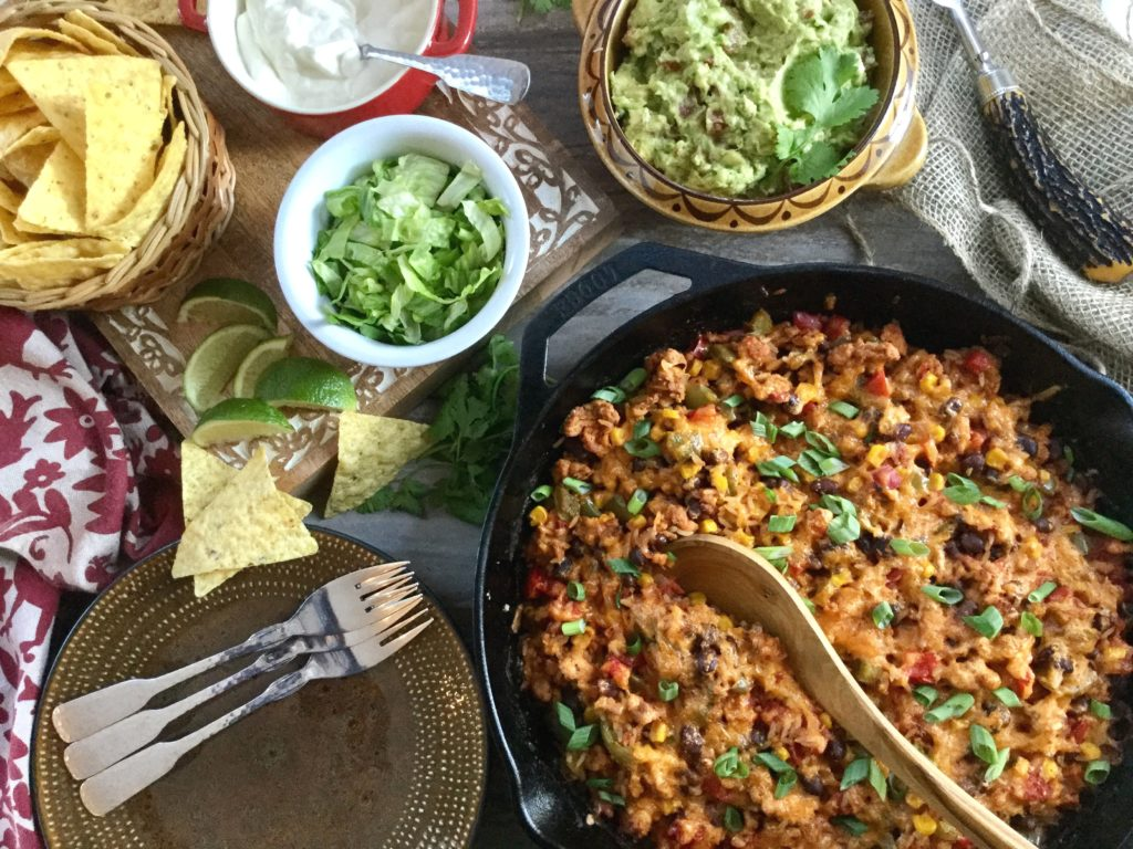 Mexican Fiesta Chicken & Rice Skillet Recipe