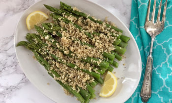 Asparagus with Seasoned Butter Crumbs