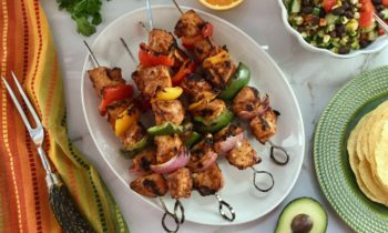Orange Chipotle Chicken Fajita Skewers