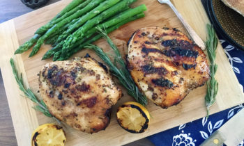Grilled Lemon Rosemary Chicken Breasts